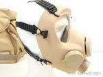 Franse ARFA ANP-VP F1 Volgelaatsmasker / Gasmasker met  Tas, coyote tan