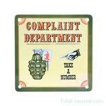 Curio metalen plaatje met magneet, Complaint Department