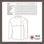 MFH US Longsleeve shirt met mouwzakken, zwart