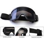 MDP tactische Ruimzichtbril / Veiligheidsbril Zwart