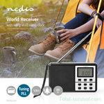 Nedis digitale draagbare wereldradio AM/FM/SW met PLL-functie