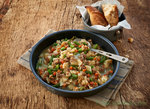 Trek 'n Eat, Hearty Potato Stir Fry with Beef and  green Beans, outdoor trekking meal