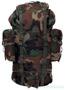 Bundeswehr Combat-rugzak, 65l, groot, Woodland