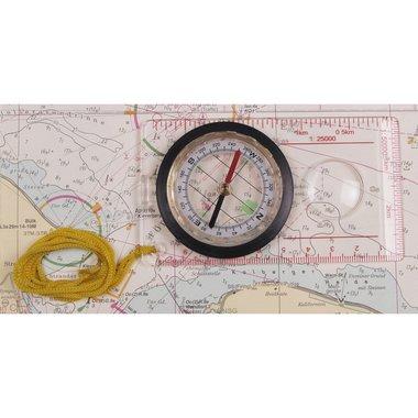 Kaart kompas transparant plastic behuizing