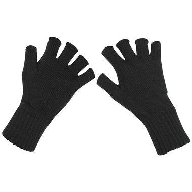 Gebreide handschoenen, zwart, zonder vingers