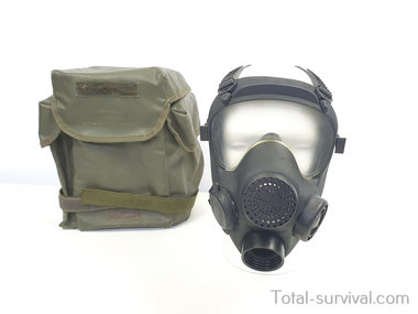 Franse ARFA ANP-VP F1 Volgelaatsmasker / Gasmasker met  Tas, zwart