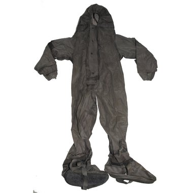 Duitse NBC SBA-1 rubber coverall, donkergrijs