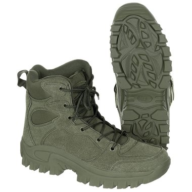 Commando boots halfhoog, groen