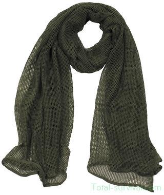Netsjaal  / sniper sjaal legergroen, 190 x 90 cm