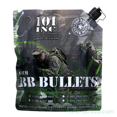 101 Inc Airsoft extreme BBs 0.20g 6mm zak