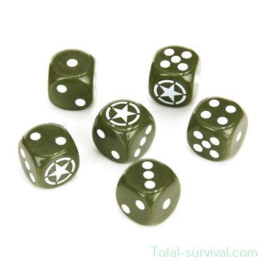 Fosco Set militaire dobbelstenen (6 stuks)