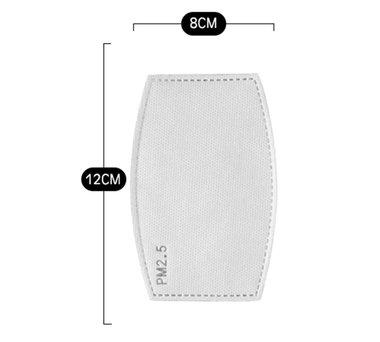 MDP PM2.5 uitwisselbare filter voor mondmaskers, set 10 stuks