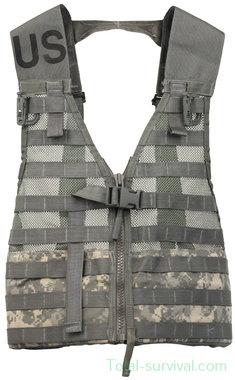 US Tactical load carrying vest FLC, Molle II Modular, UCP / ACU AT-digital