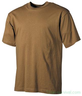US T-Shirt, korte arm, coyote tan, 170 g/m²