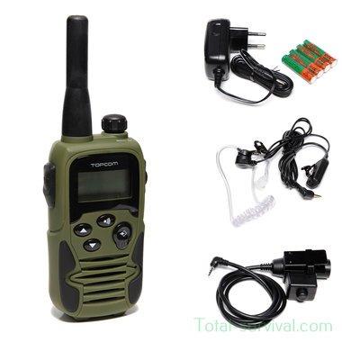 Topcom 9500 P.T.T. One double communication portofoon, Airsoft edition