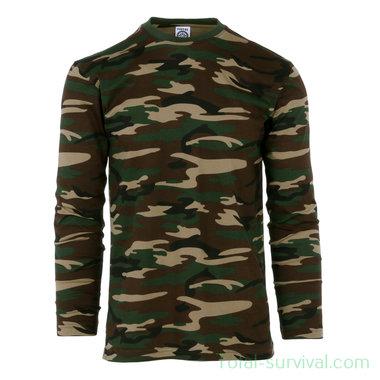 Fostex T-shirt lange mouw woodland camo