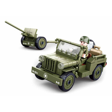 Sluban Allied jeep with Anti-Aircraft gun M38-B0853