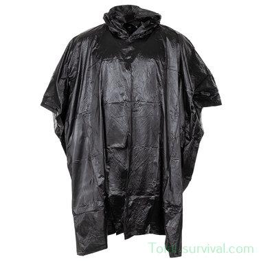 Poncho, black, 200 x 127 cm, 0,12 mm