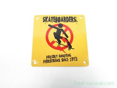Curio metalen plaatje met magneet, Skateboarders
