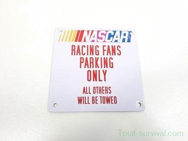 Curio metalen plaatje met magneet, Nascar Racing Fans