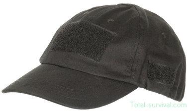 MFH US operations cap met velcro, zwart, verstelbaar