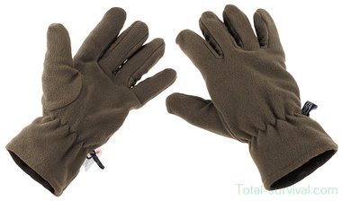 MFH Fleece handschoenen, olijfgroen, 3M™ Thinsulate™ Insulation