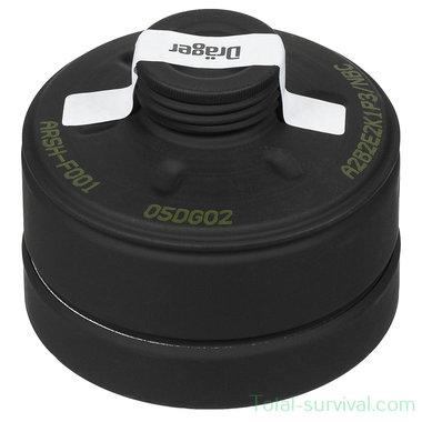 Dräger ARSH-F001 NBC/CBRN combifilter (A2B2E2K1P3/NBC) met EN-148 RD40 schroefdraad