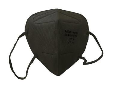 MDP Mondmasker KN95 zwart FFP2 NR, EN 149:2001+A1:2009, CE 2163