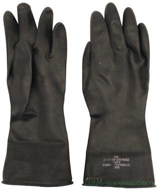 Britse NBC rubberen handschoenen, zwart