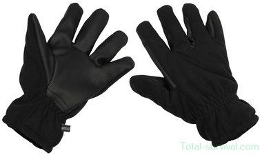MFH Fleece handschoenen, zwart, water- en winddicht