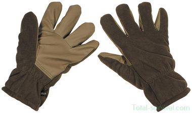 MFH Fleece handschoenen, olijfgroen, water- en winddicht
