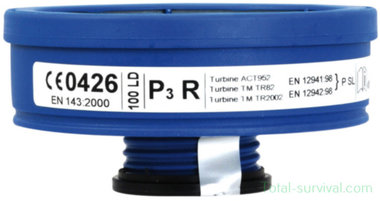 Spasciani LD-P3 R filter (FFP3+) EN148-1 RD40 EN143:2000