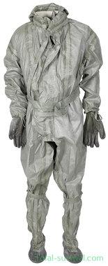 Poolse NBC/CBRN protective coverall met handschoenen en tas, grijs