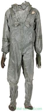 Poolse NBC/CBRN protective coverall set 2-delig met handschoenen en tas, grijs