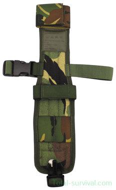KL landmacht beenholster voor mes of bajonet, Molle, Woodland DPM