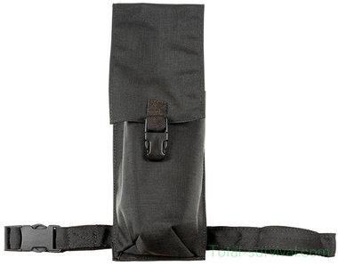 Britse politie draagtas voor compacte brandblusser met riem- en beenbevestiging, nylon, zwart