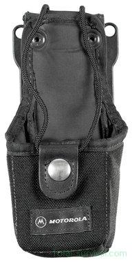 Britse politie Motorola portofoon draagtas met riembevestiging, nylon, zwart