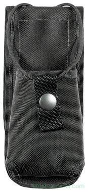 Britse politie portofoon draagtas met riembevestiging, nylon, zwart