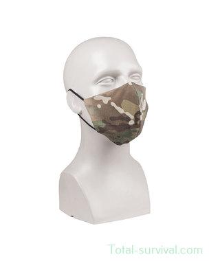 Mil-tec herbruikbaar mondmasker, V-shape, ripstop, MTP Multicam