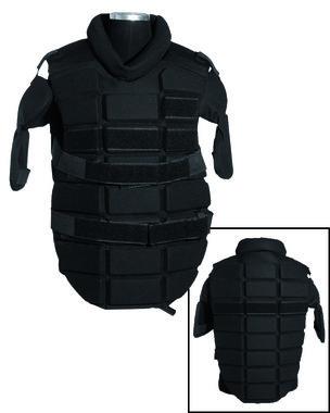 Mil-tec Anti Riot slagwerend veiligheidsvest, zwart