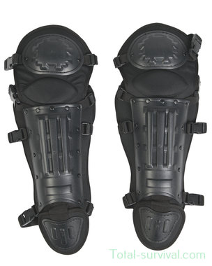 Mil-tec Anti Riot knie- en beenbeschermers, zwart