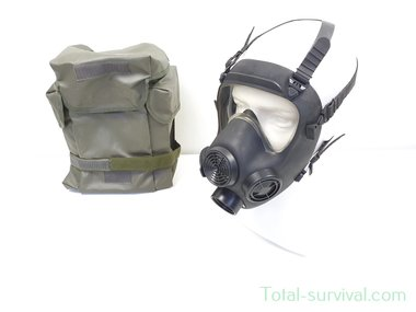 Maskpol MP5 Volgelaatsmasker / Gasmasker met  Tas, zwart