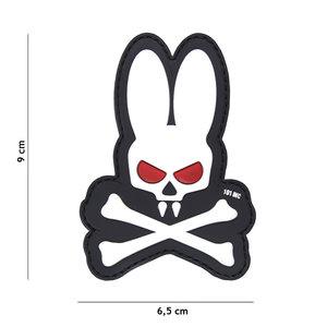 "101 INC 3D PVC patch "" Skull bunny "" white"
