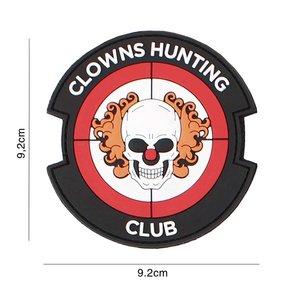 """101 INC 3D PVC patch """" Clowns Hunting Club """" red"""